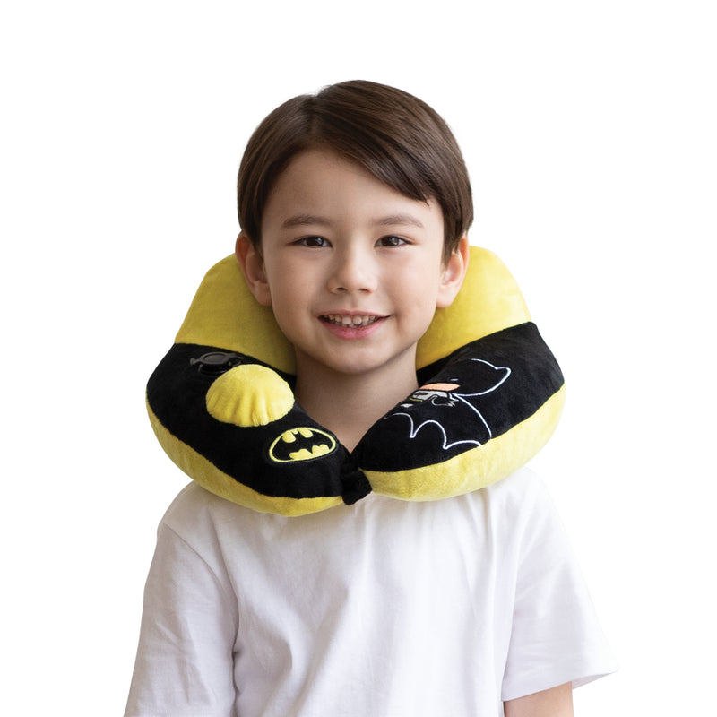 World's First Justice League Batman Inflatable Pillow, with Patented Pump  (Best Batman Gift Ideas for adults and kids)