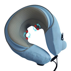 6D Professional Rolling Massage Pillow with Patented Pump & Memory Foam