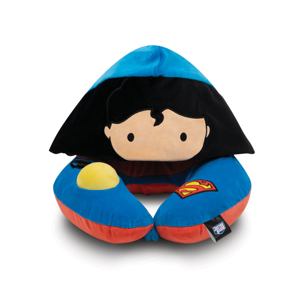 World's First Justice League Superman Hooded Pillow, with Patented Pump (Best Superman Gift Ideas for adults and kids)