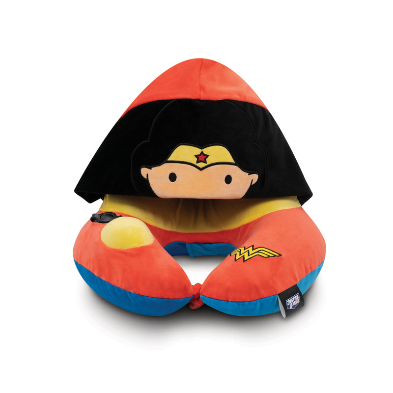 World's First Justice League Wonder Woman Hooded Pillow, with Patented Pump (Best Wonder Woman Gift Ideas for adults and kids)