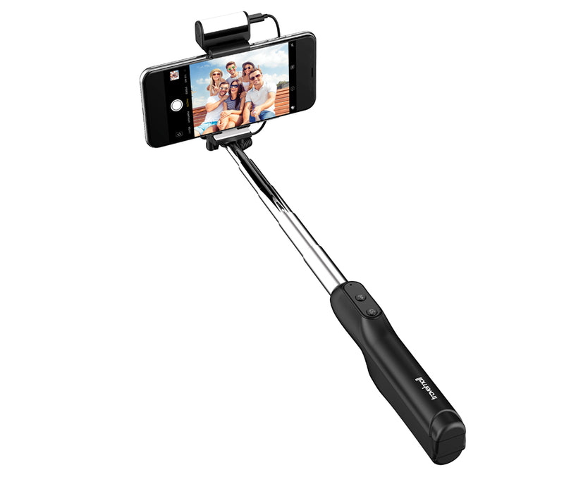 Travelmall Bluetooth Selfie Stick with LED Light-Compensation Lamp