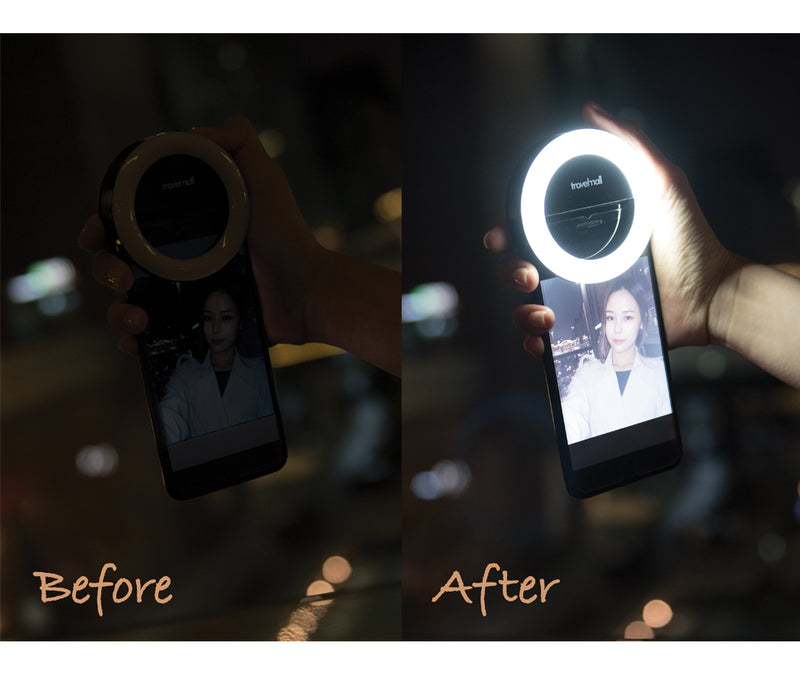 Travelmall Switzerland Clip-on Rechargeable Selfie Fill-Light for Smartphone or Tablets