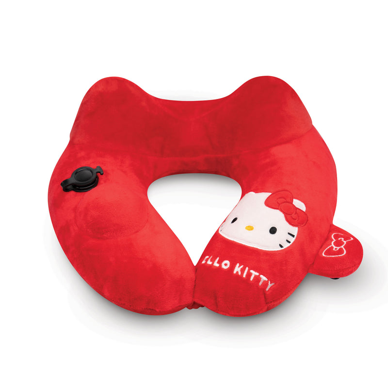 Hello Kitty Inflatable Massage Pillow with 3D Push Pump and a 3-level massage function