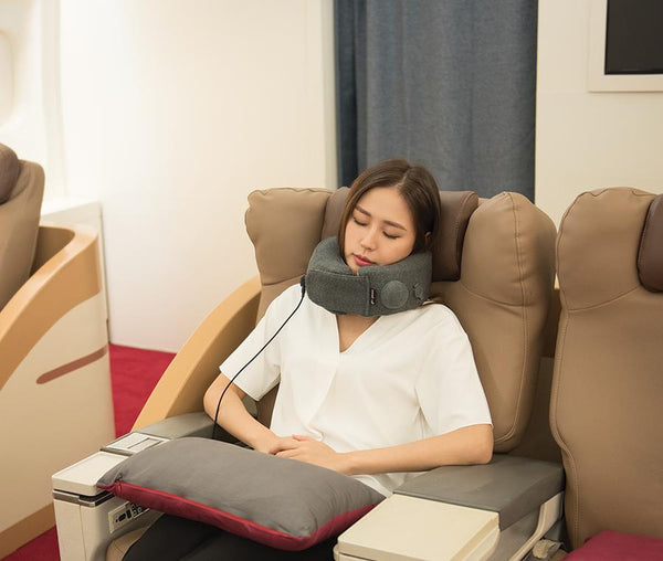 Travelmall 3D Inflatable Neck Pillow with patented pump & 5-level heat function