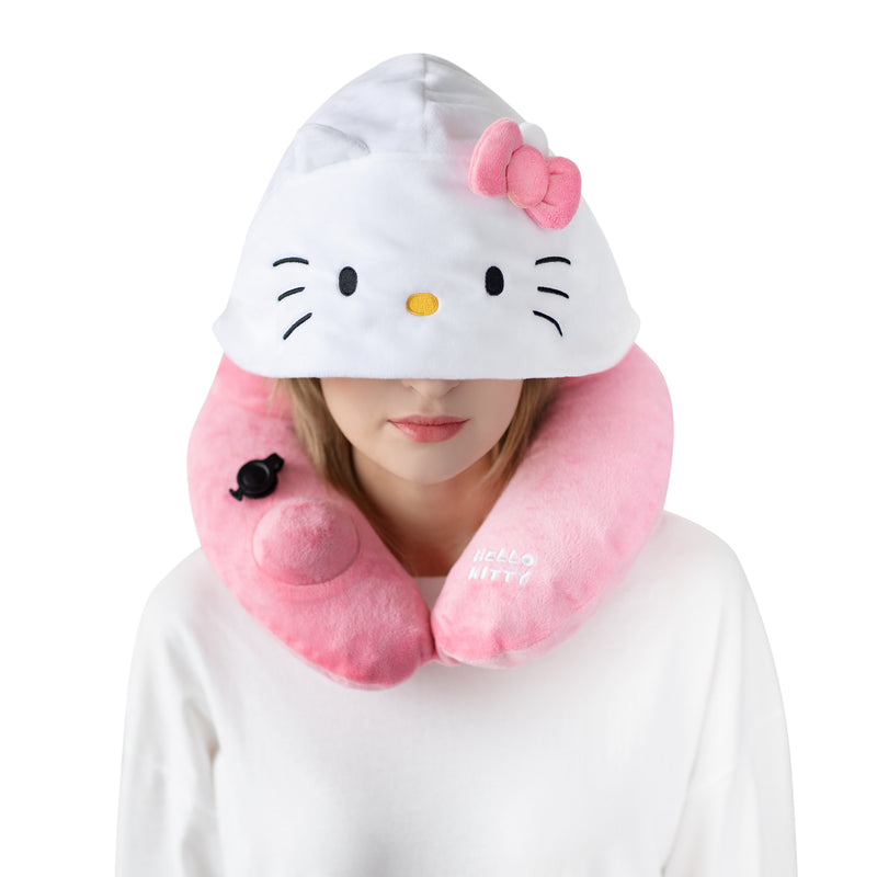 Hello Kitty 3D Inflatable Hooded Pillow with an award-winning 3D push pump