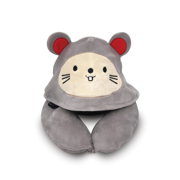 Pet Mice Inflatable Hooded Pillow, with Patented Pump