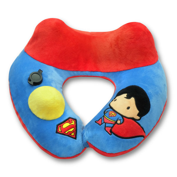 World's First Justice League Superman Inflatable Pillow, with Patented Pump  (Best Superman Gift Ideas for adults and kids)