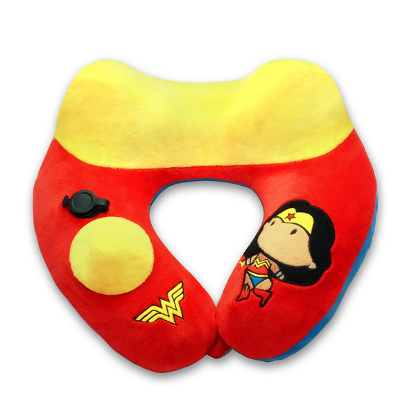World's First Justice League Wonder Woman Inflatable Pillow, with Patented Pump  (Best Wonder Woman Gift Ideas for adults and kids)