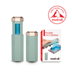 Travelmall Switzerland Portable UVC Steriliser, Green/Gold edition