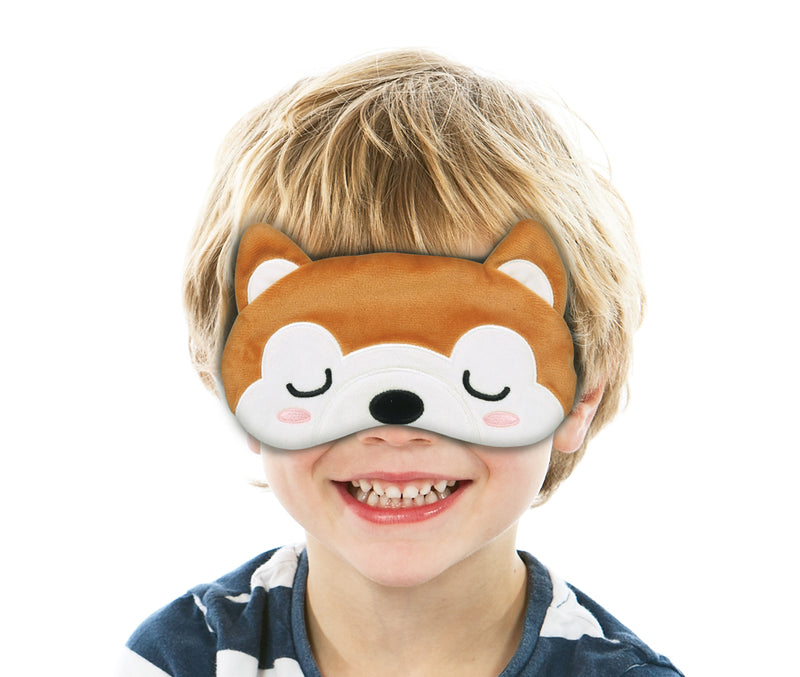 Travelmall Kid's Light-Block Sleep Mask, Shiba Inu Edition