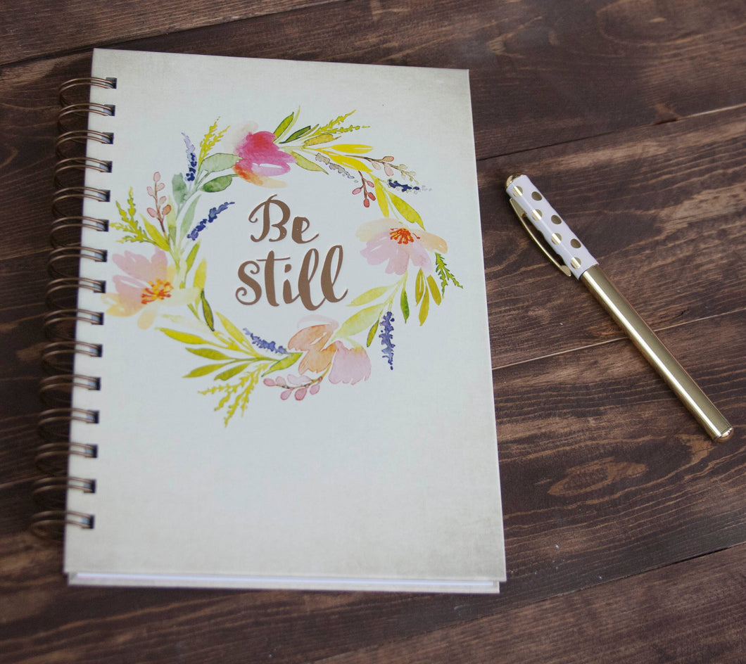 Be Still & Know Hardcover Wirebound Journal