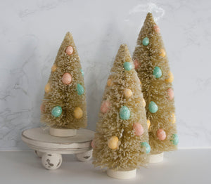 Easter Egg Bottle Brush Tree - SMALL