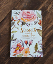 Load image into Gallery viewer, Notebook Strength and Dignity Proverbs 31:25