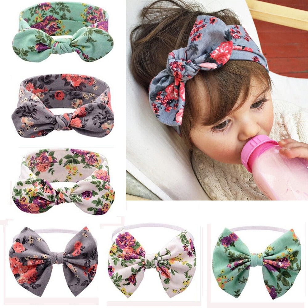 Oversized Floral Headband & Bow