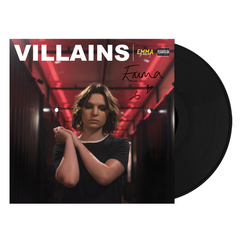 VILLAINS BLACK VINYL SIGNED