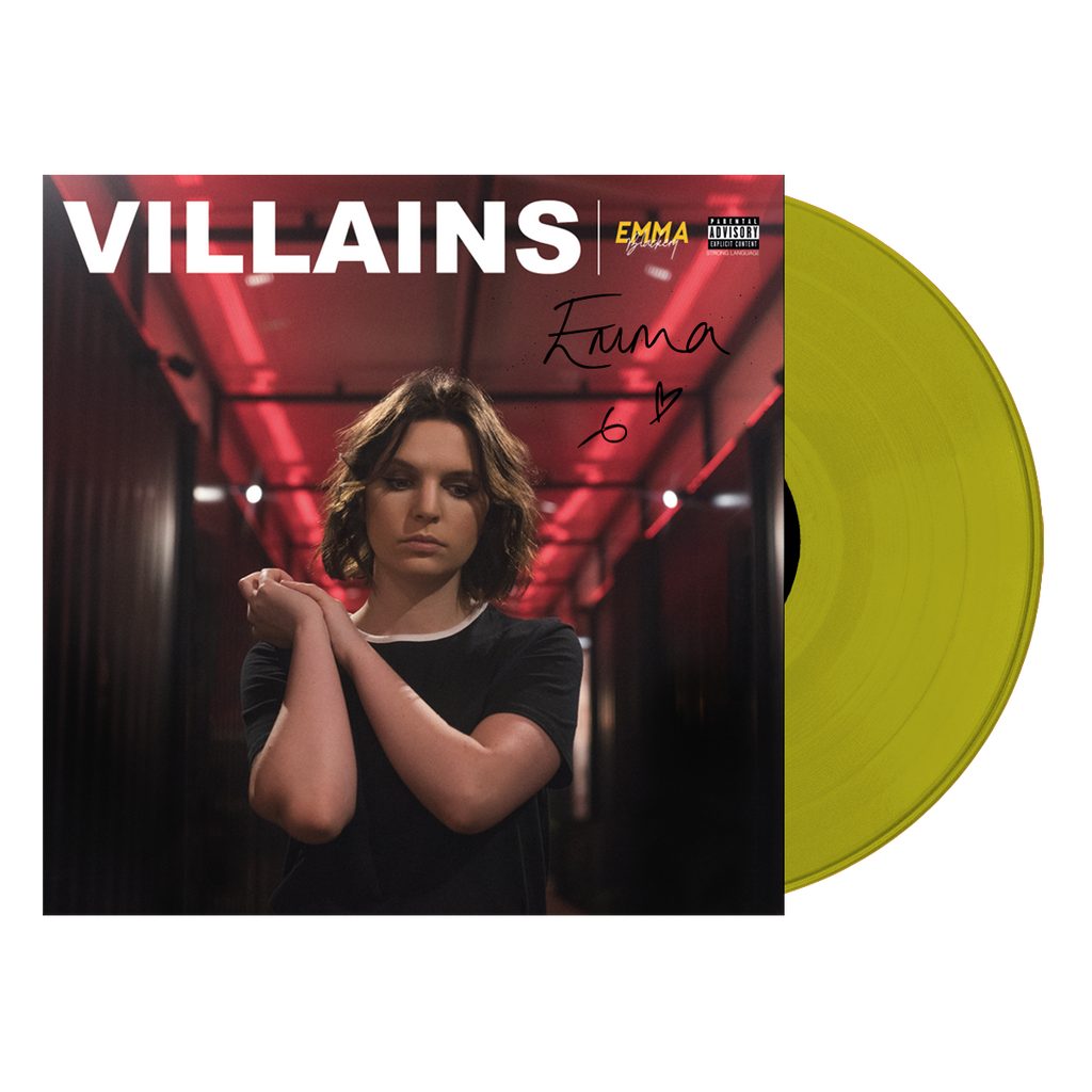 VILLAINS YELLOW VINYL SIGNED