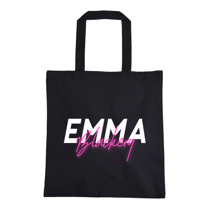 NEON LOGO/VILLAINS DOUBLE SIDED TOTE BAG