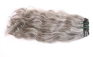 Light Gray Natural Wavy Indian Hair