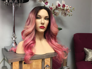 Eurasian Straight Custom Colored Pink Wig