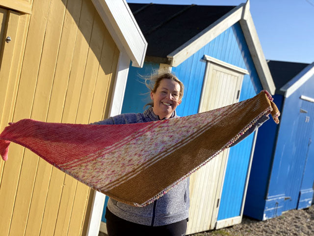 Trying to show off my Flatiron Shawl on a windy day!