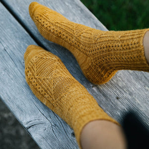 Laine - 52 Weeks of Socks Mustard Socks | Yarn Worx