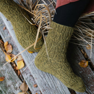 Laine - 52 Weeks of Socks Green Socks | Yarn Worx
