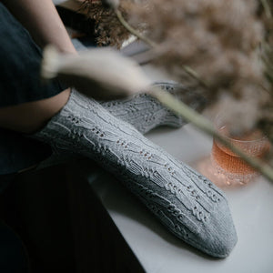 Laine - 52 Weeks of Socks Grey Socks | Yarn Worx