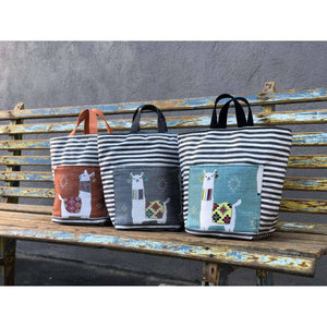 Atenti - Hope Basket Project Bag - Mamallama Grey | Yarn Worx