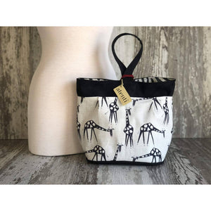 Atenti - Tall Caddy Project Bag - Giraffes | Yarn Worx
