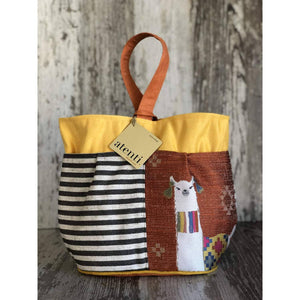 Atenti - Tall Caddy Project Bag - Mamallama Orange | Yarn Worx