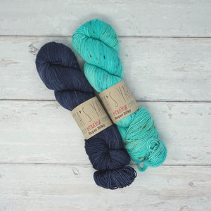 Breathe & Hope Kit - Casapinka's LYS Day Project - Emma's Yarn Super Silky WITH FREE PATTERN Denim & 20,000 Leagues | Yarn Worx