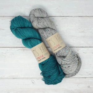 Breathe & Hope Kit - Casapinka's LYS Day Project - Emma's Yarn Super Silky WITH FREE PATTERN Tealicious & After Party | Yarn Worx