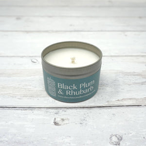 White Candle Company 100g Tin - Black Plum & Rhubarb | Yarn Worx
