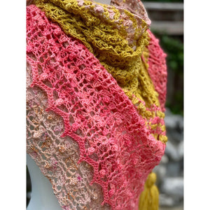 Bobblegum Shawl - Lisa's Attik - Emma's Yarn Super Silky with Pattern | Yarn Worx