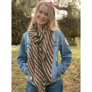 Budis Scarf Kit - LD Knits - Emma's Yarn Spectacular DK - With Pattern | Yarn Worx
