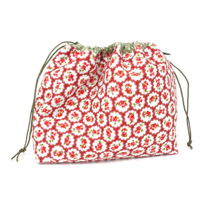 Sew Ray Me Cath Kidston Print Drawstring Project Bag shown closed