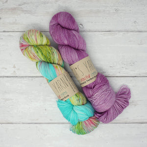 Breathe & Hope Kit - Casapinka's LYS Day Project - Emma's Yarn Practically Perfect Sock WITH FREE PATTERN Happily Ever After & Lilac you a lot | Yarn Worx