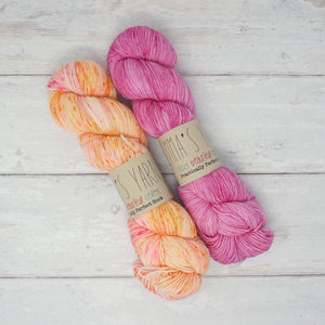 Breathe & Hope Kit - Casapinka's LYS Day Project - Emma's Yarn Practically Perfect Sock WITH FREE PATTERN It's Sherberthday & Barbie Girl | Yarn Worx