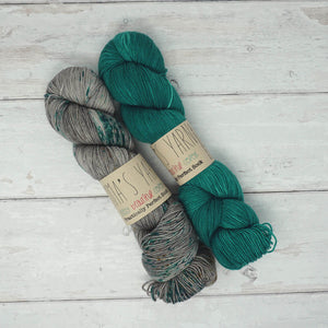 Breathe & Hope Kit - Casapinka's LYS Day Project - Emma's Yarn Practically Perfect Sock WITH FREE PATTERN Tealicious & Stolen Dances | Yarn Worx