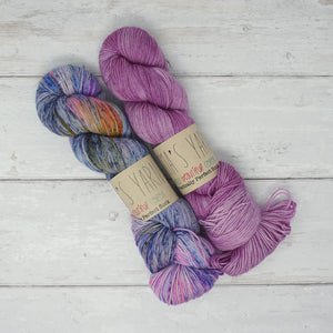 Breathe & Hope Kit - Casapinka's LYS Day Project - Emma's Yarn Practically Perfect Sock WITH FREE PATTERN Wing It & Lilac you a lot | Yarn Worx
