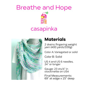 Breathe & Hope Kit - Casapinka's LYS Day Project - Emma's Yarn Practically Perfect Sock WITH FREE PATTERN | Yarn Worx