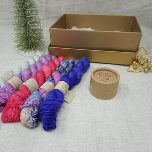 Christmas Knit or Crochet Gift 1 (5 x 20g & Cocoknits Coloured Opening Stitch Markers) with Wing It, Fame & Fortune, Cactus Flower, Lilac You A Lot and Jackie O Practically Perfect Smalls Emma's yarn