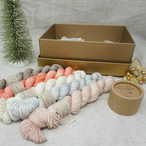 Christmas Knit or Crochet Gift 1 (5 x 20g & Cocoknits Coloured Opening Stitch Markers) with Beach Please, Don't Call Me Peaches, Jackie O, Whisper and Himalayan Salt Practically Perfect Smalls Emma's yarn