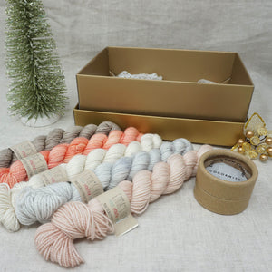 Christmas Knit or Crochet Gift 2 (5 x 20g & Cocoknits Row Counter) with Beach Please, Don't Call Me Peaches, Jackie O, Whisper and Himalayan Salt Practically Perfect Smalls Emma's yarn