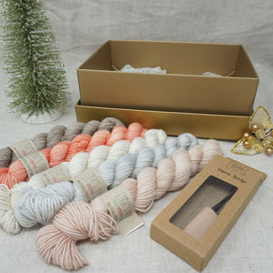 Christmas Knit or Crochet Gift 3 (5 x 20g & Cocoknits Yarn Snips with Beach Please, Don't Call Me Peaches, Jackie O, Whisper and Himalayan Salt Practically Perfect Smalls Emma's yarn