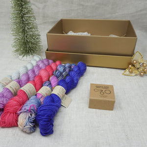Christmas Knitters Gift 5 (5 x 20g & Cocoknits Precious Metal Stitch Markers) with Wing It, Fame & Fortune, Cactus Flower, Lilac You A Lot and Jackie O Practically Perfect Smalls Emma's yarn