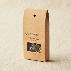 Cocoknits - Claw Clips shown clipped onto a piece of knitting | Yarn Worx