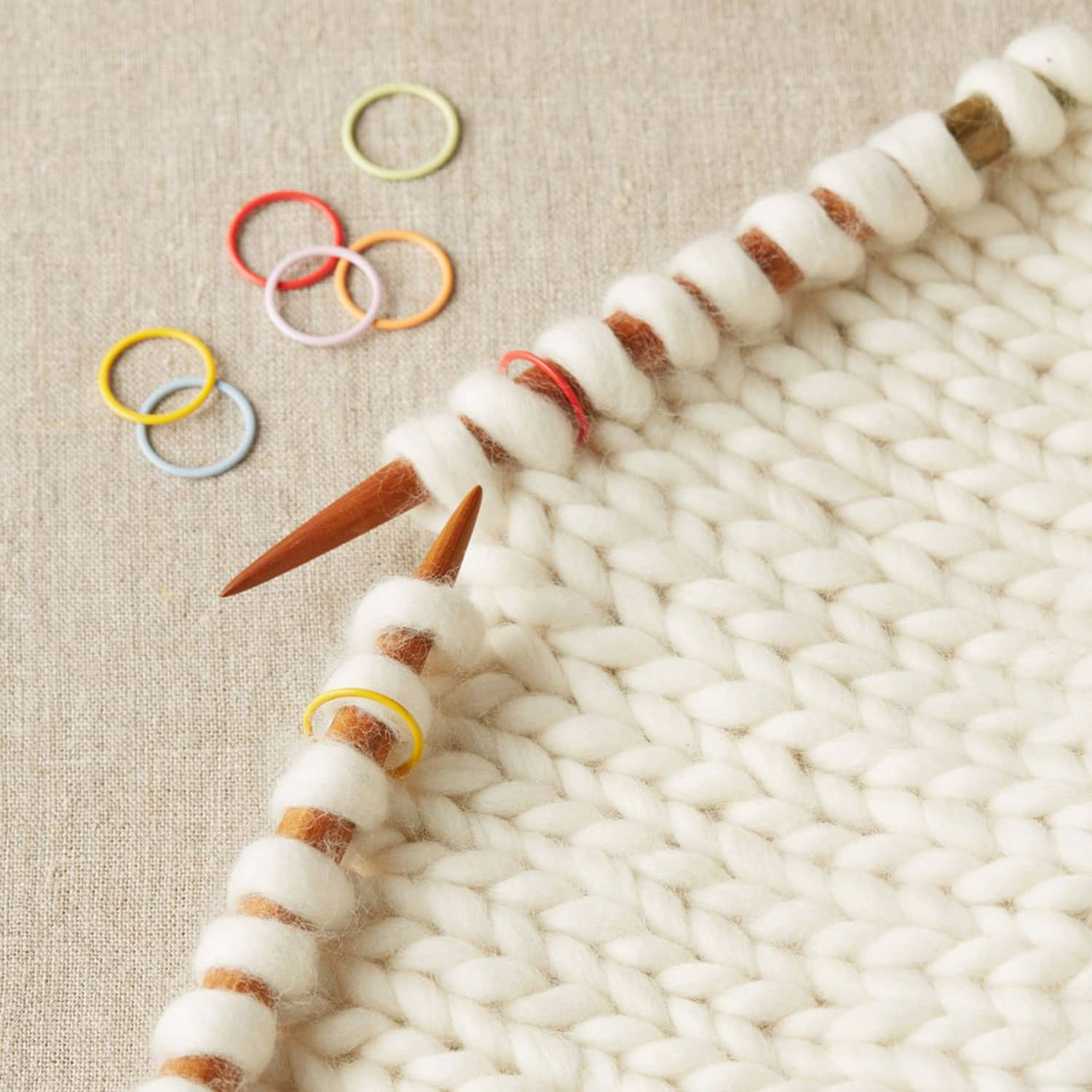 Cocoknits - Jumbo Coloured Ring Stitch Markers | Yarn Worx