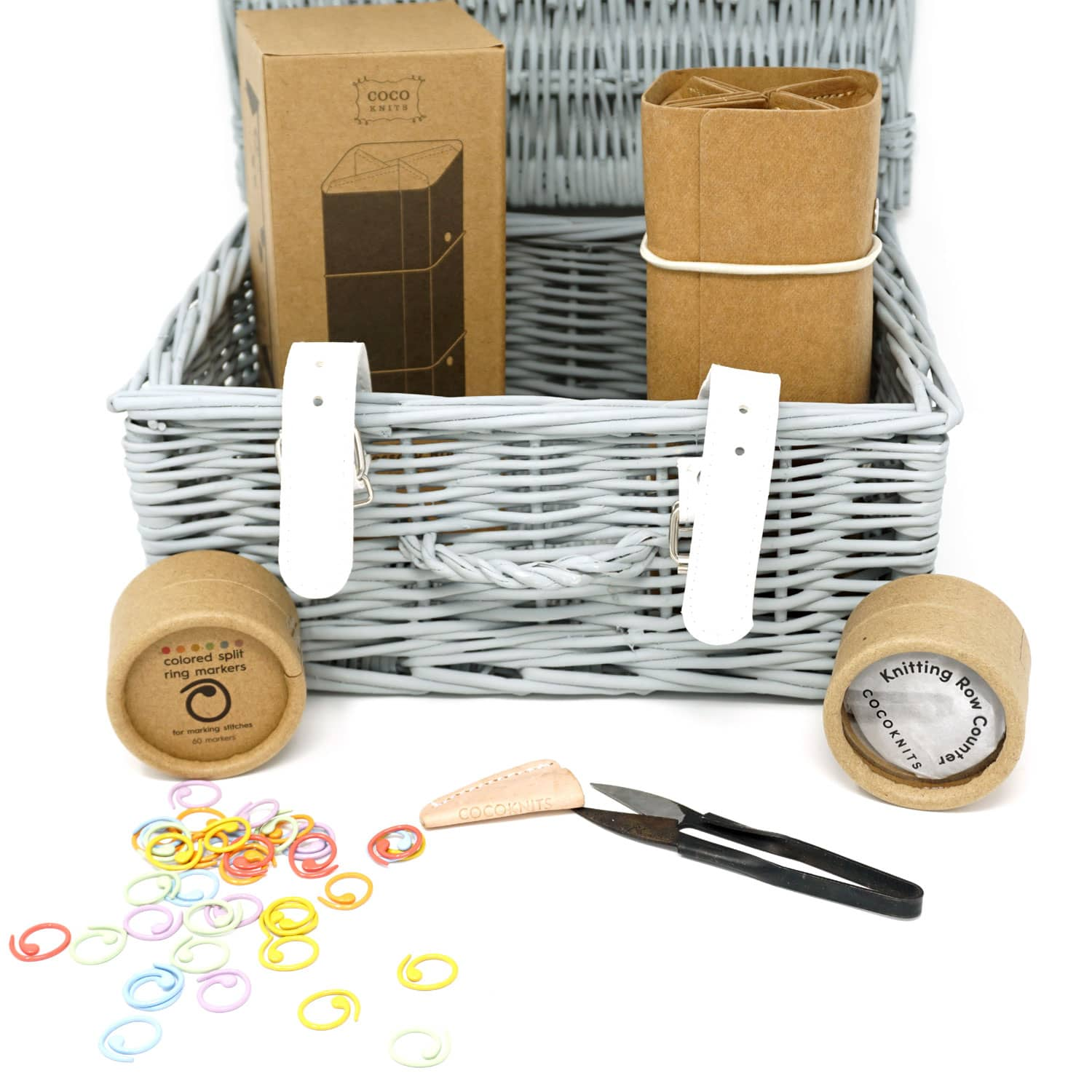 Cocoknits Lovers Christmas Hamper  with accessory roll, row counter, yarn snips and coloured opening stitch markers | Yarn Worx