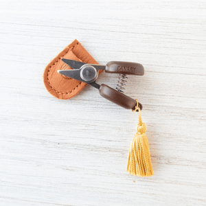 Cohana - Mini Yarn Snips shown in yellow | Yarn Worx